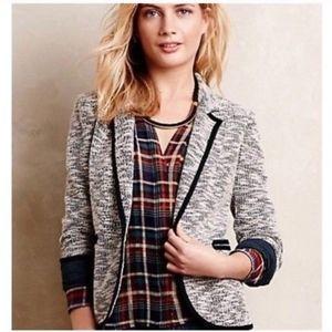 Anthropologie Cartonnier Textured Blazer Jacket